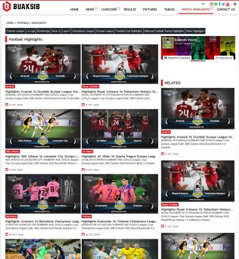 Football highlights on buaksib.com